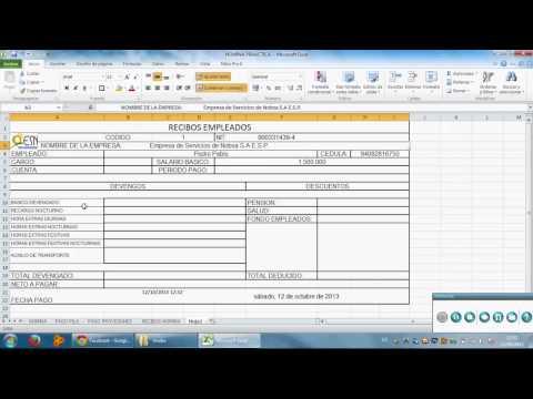 Como hacer un recibo de pago de nomina en excel for Como se liquida una nomina en excel
