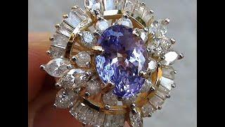 Tanzanite & Diamond Cocktail Ring 6.05 ctw 14kt  Gold Value $12,771