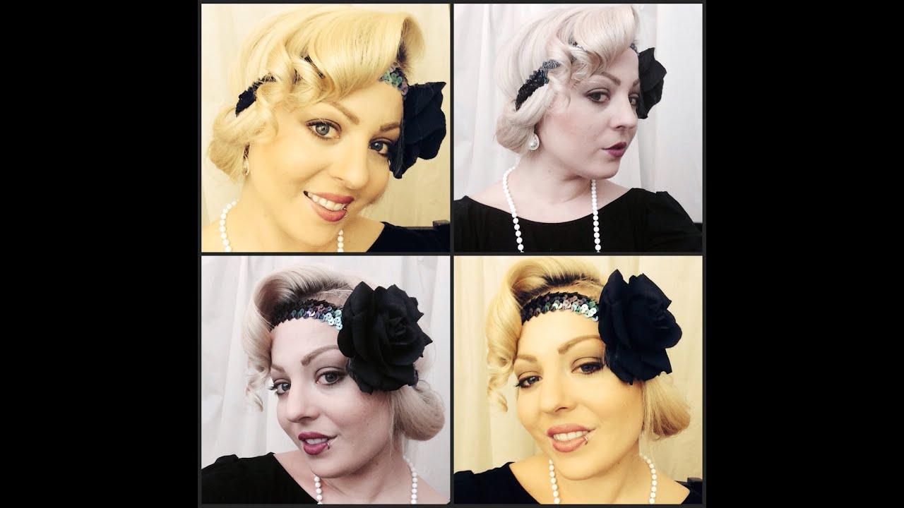 Roaring 20's Hair & Makeup Tutorial - YouTube