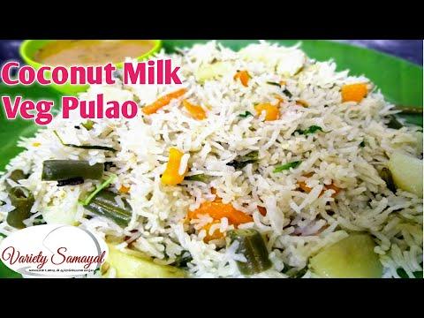 Coconut milk veg pulao| Thengai paal sadam in tamil