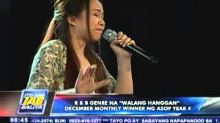 "R&B genre na ""Walang Hanggan"", December monthly winner ng ASOP Year 4"