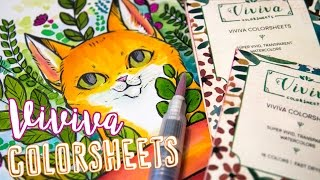 PAPER WATERCOLORS? - VIVIVA COLORSHEETS - Revisited (+Giveaway!)