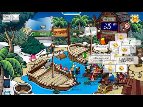 Meeting Rockhopper At Adventure Party 2011