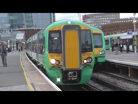 Brand New 377604 + 377605 Departs London Bridge For West Croydon With A Whistle