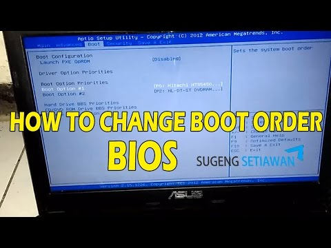 How To Change Boot Order in Bios