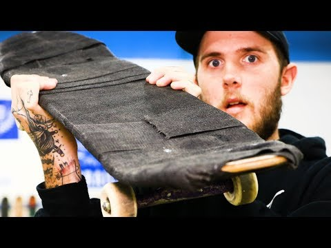 INDESTRUCTIBLE FIBER FIX SKATEBOARD?! STRONGER THAN LINE-X?