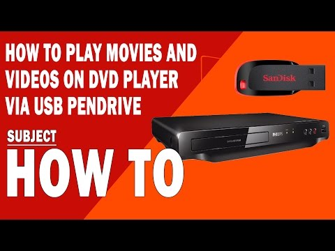 How to play Movies and Videos on DVD player via USB Pendrive
