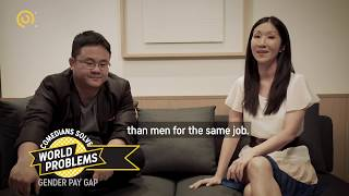 Comedy Central Asia Comedians Solve World Problems-  Gender Pay Gap (warning: heavy Singlish!)