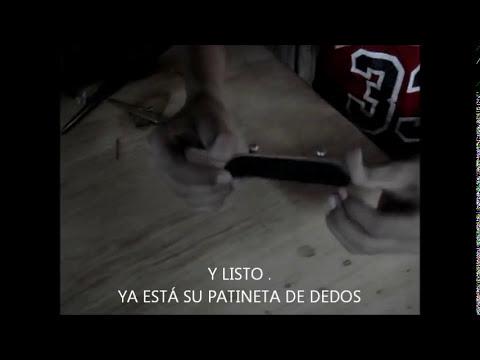tutorial de patinetas de dedos casero