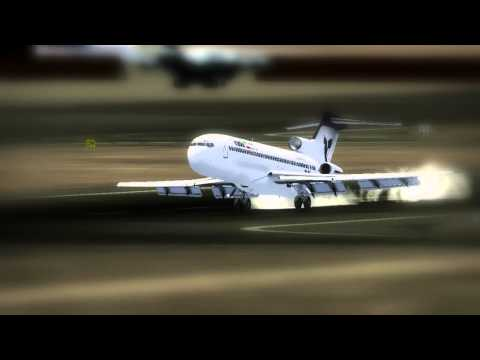 Iran Air Boeing 727 landed without nose gear (FSX)