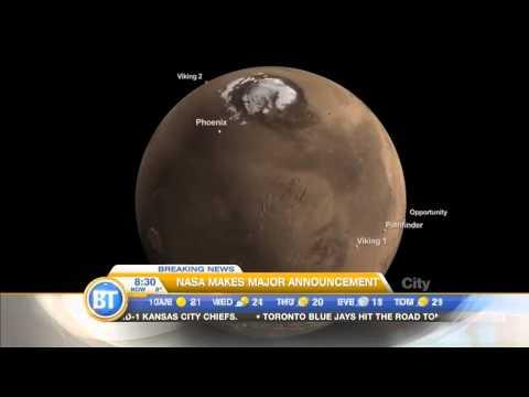 UPDATE: Water is believed to be flowing on Mars.