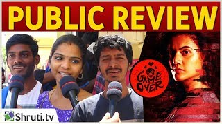 Game Over Public Review | Taapsee Pannu | Game Over Movie Review