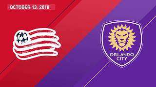 HIGHLIGHTS: New England Revolution vs. Orlando City SC | October 13, 2018
