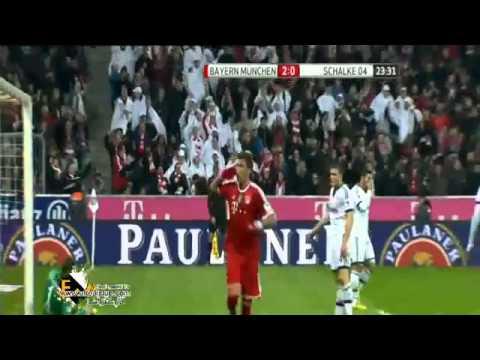 أهداف مباراة بايرن ميونخ وشالكة  bayern munich v schalke 04 5 1
