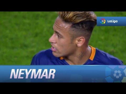 Polémica: Neymar y Barragán encarándose al final del partido