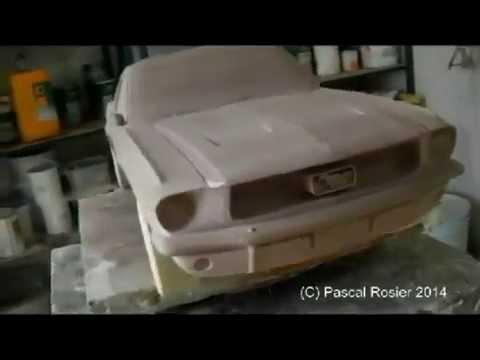 Maquette de voiture en resine transparente
