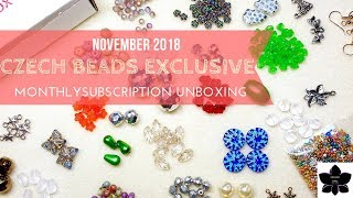 Czech Beads Exclusive Monthly Subscription Box Unboxing | Nov 2018 | Beaded Jewelry Making