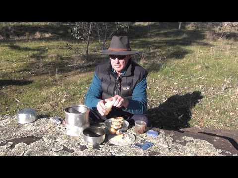 How to make savoury pancake stacks on a Trangia stove by AdventurePro