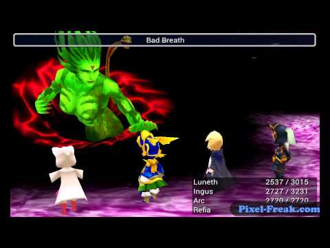 Final Fantasy 3 Walkthrough - Android Ouya iOS DS - Part 38 - Final Boss: Cloud of Darkness