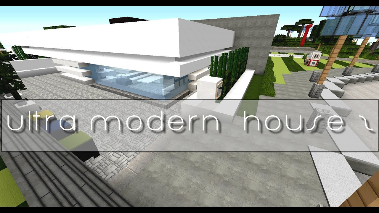 minecraft maison ultra moderne visite download youtube. Black Bedroom Furniture Sets. Home Design Ideas