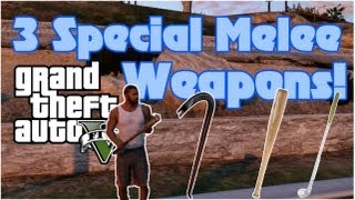 GTA 5: Special Melee Weapons Locations - Baseball Bat, Crowbar & Golf Club