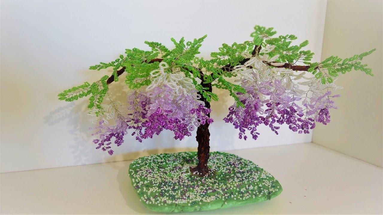 Глициния деревья из бисера своими руками 47