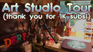 1K Subs & Studio Tour!