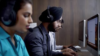 Active customer support executives working in the office on a ...   Indian Stock Footage   Knot9