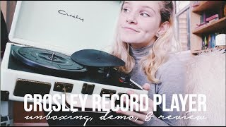 CROSLEY RECORD PLAYER // review, demo, & unboxing (urban outfitters mint green)