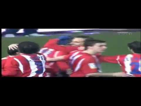 2005/06.-  Atlético Madrid 5 Vs Málaga CF 0 (Liga - Jornada 25)
