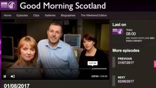 BBC Scotland Interview - 1 August 2017 - Global Internet Forum
