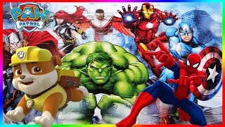 PAW PATROL - SPIDERMAN - MARVEL AVENGERS  - puzzle jigsaw toys kids games