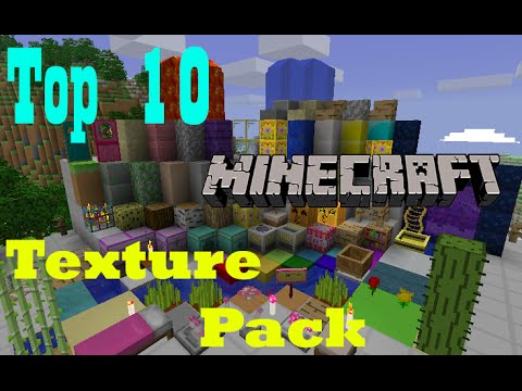 Top 10 Minecraft Texture Pack (1.6-1.7-1.8) [2014] HD