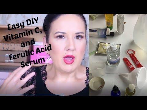 How to make Vitamin C. E and Ferulic face Serum. DIY