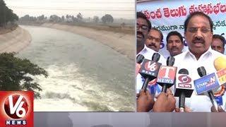 Minister Thummala Nageshwar Rao Releases Water From Paleru Reservoir | Khammam