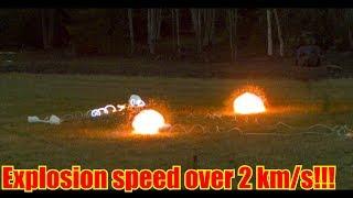 Oxy-Acetylene Detonating Cord | in SUPER SLOW MOTION