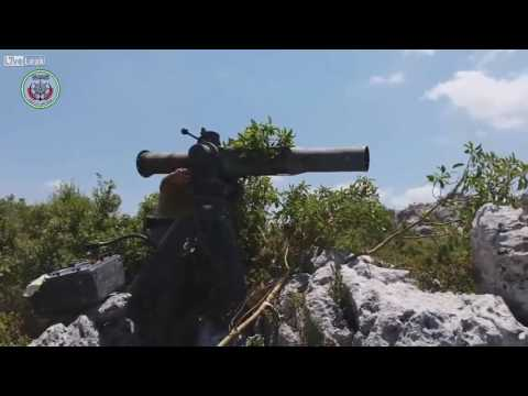 SYRIAN CIVIL WAR: Jaish al fateh attacks Syrian soldiers with TOW missiles.