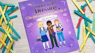 Đồ chơi dán hình trang điểm váy đầm búp bê -Tập 26 chào năm học mới -Sticker dolly dress ChimXinh