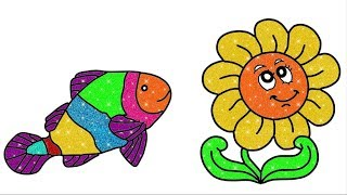fish drawing | how to draw flower | #betv #lapghepdochoi #xeoto #hantittv