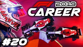 F1 2019 CAREER MODE Part 20: LUCKY NOT TO HAVE MORE DAMAGE!