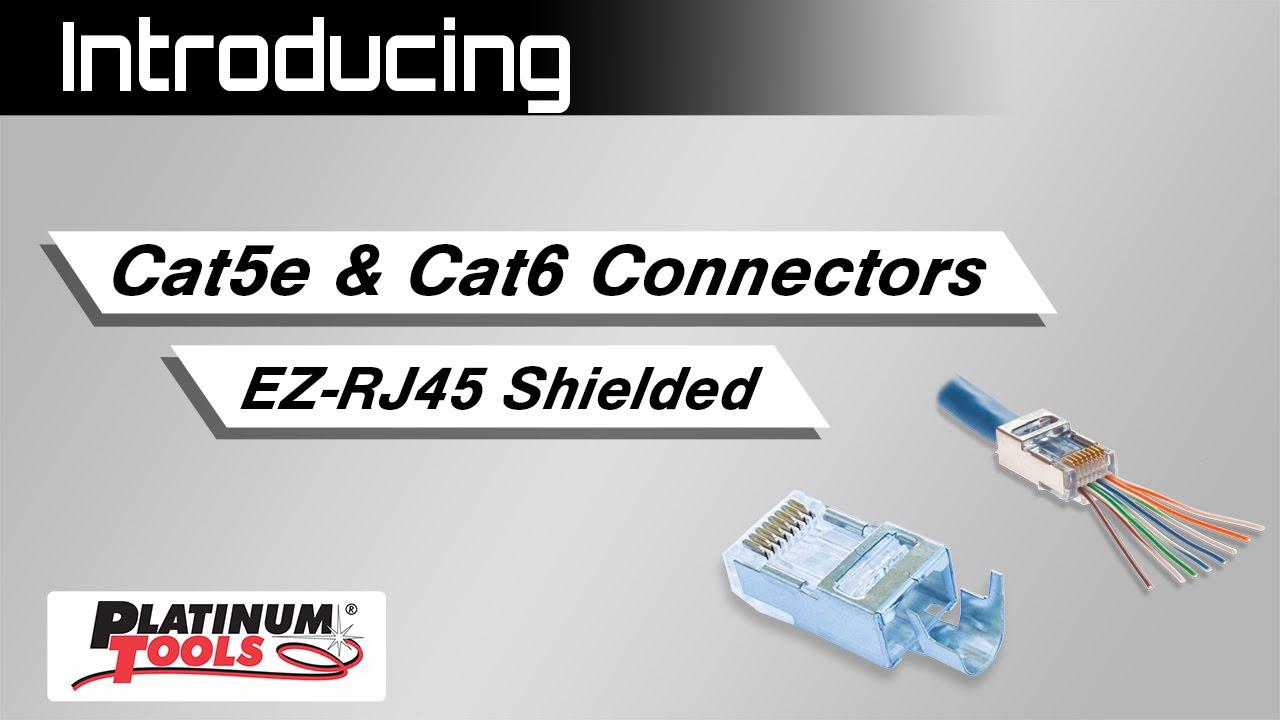 cat 5e cat 6 connectors ez rj45 shielded external ground