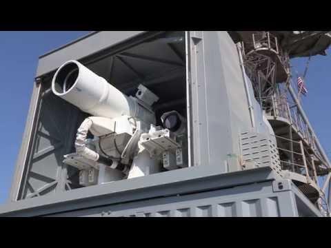 Испытания системы лазерного оружия (Laser Weapon System)