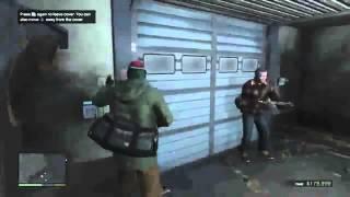 First Bank Robbery Mission in GTA V! [Michael, Trevor, & Franklin]