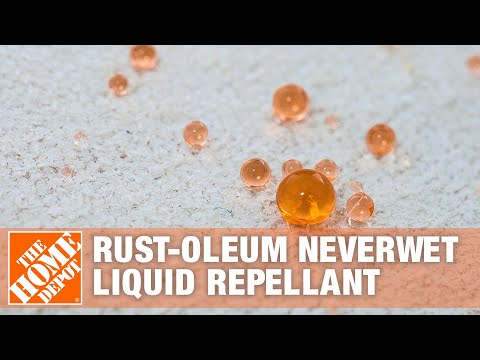 Rust-Oleums NeverWet is a superhydrophobic aerosol that repels mud, water, snow and more, so its a must-have for the job site to protect your shoes, boots, gloves and clothing. See the results for yourself as we put it to the test on a work glove.