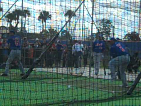 New York Mets Spring Training Marlon Byrd BP