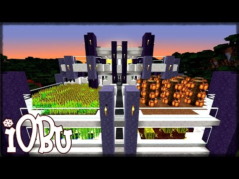 Let's Build: A Modern Farm House Base - Minecraft Timelapse