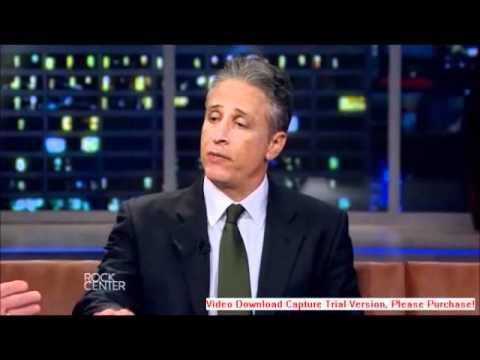 """Jon Stewart Interviewed by Brian Williams on """"The Rock Center"""" Premiere"""