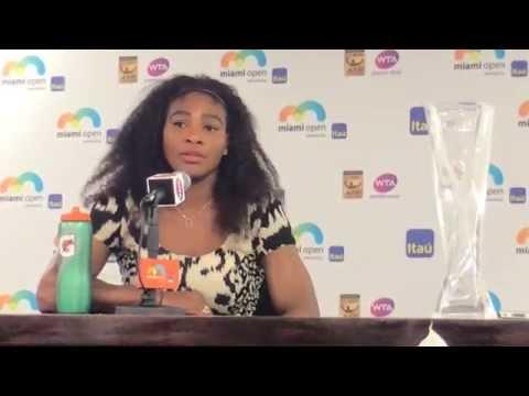 Serena Williams discusses defeating Carla Suarez Navarro to win Miami Open final