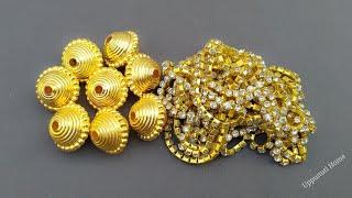 How To Make Beautiful Designer Earrings At Home | Pearl Drop Earrings | Jewelry Making |uppunutihome