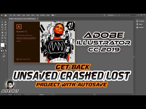 Adobe illustrator CC | Enable Autosave and Get back Unsaved or lost File in illustrator